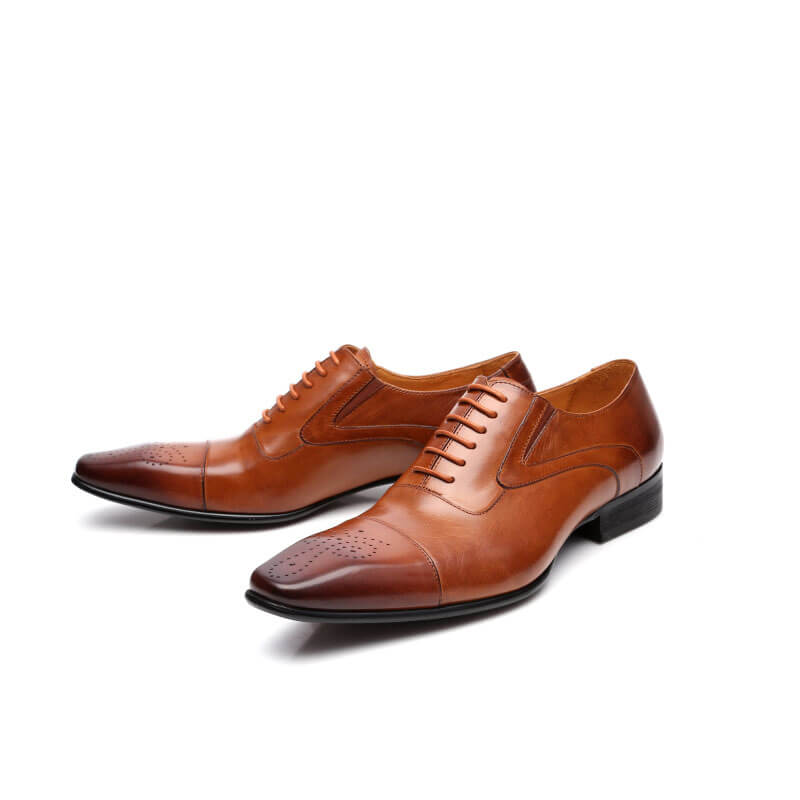 Men Brogue Oxford Leather Shoes