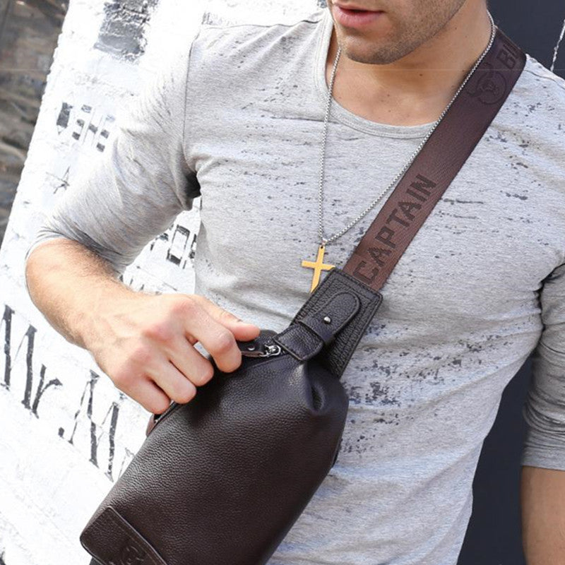 Men's Leather Chest Pack