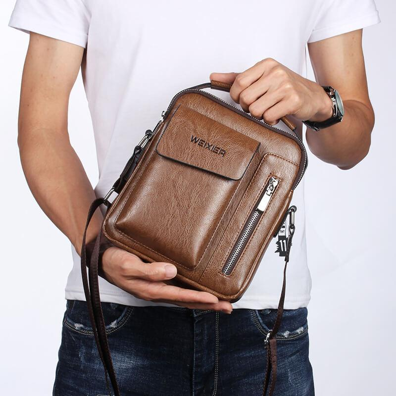 Casual Leather Crossbody Bag