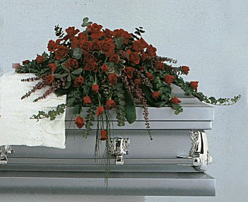 Amazing Grace Red Casket Spray