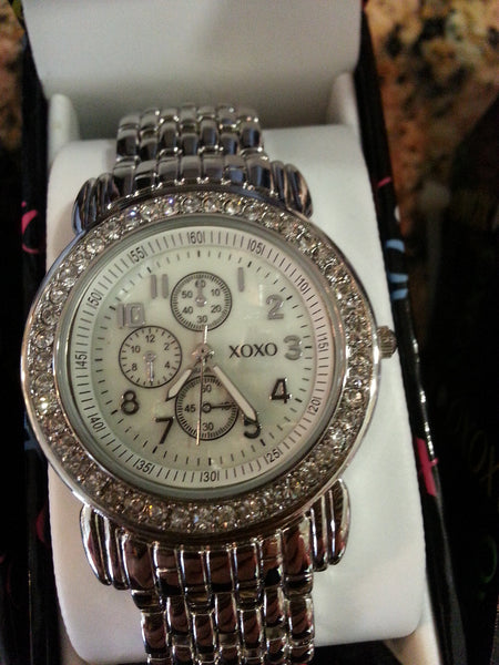 xoxo Watch with silver band