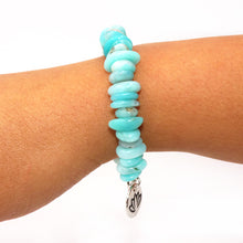 Load image into Gallery viewer, Peruvian Amazonite Slice 925 Sterling Silver Adjustable Bracelet