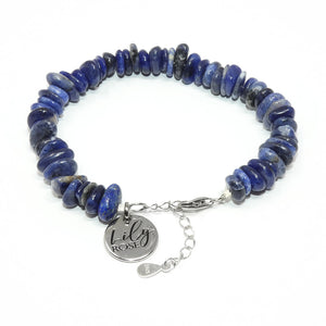 Sodalite Harmony Slice 925 Sterling Silver Adjustable Bracelet