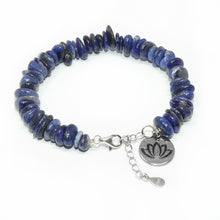 Load image into Gallery viewer, Sodalite Harmony Slice 925 Sterling Silver Adjustable Bracelet