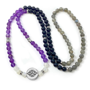 8mm Elizabeth April AWAKEN Protection & Activation Limited Edition Stretch Mala Bracelet Necklace