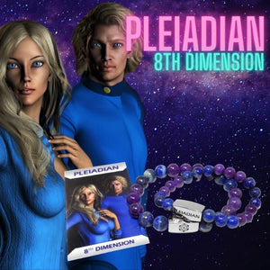 8mm Elizabeth April Channeled Pleiadian Sacred Geometry Limited Edition Cosmic Species Stretch Bracelet