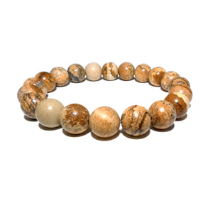 Picture Jasper Nature's Antidepressant 10mm Stretch Bracelet
