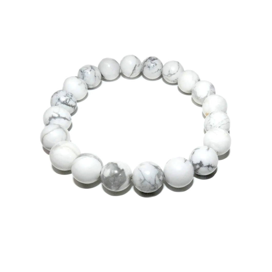 Howlite Happiness Anti-Anxiety 10mm Stretch Bracelet