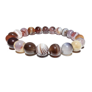 Black Lace Agate Botswana Agate Sooth & Agile 10mm Stretch Bracelet