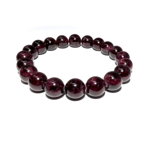 Brazilian Garnet Brave Passionate Love 10mm Stretch Bracelet