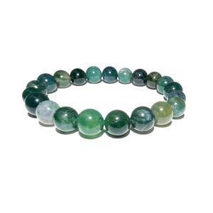 Moss Agate Mother Gaia Growth & Abundance 10mm Stretch Bracelet