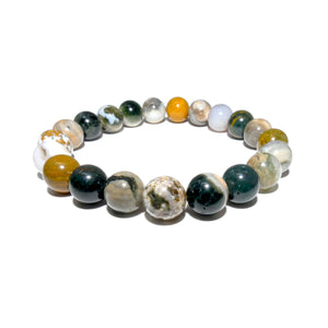 Ocean Jasper Swirls of Serenity 10mm Stretch Bracelet
