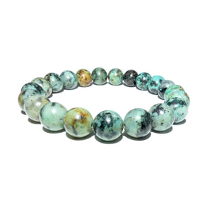 African Turquoise Exploration & Transformation 10mm Stretch Bracelet