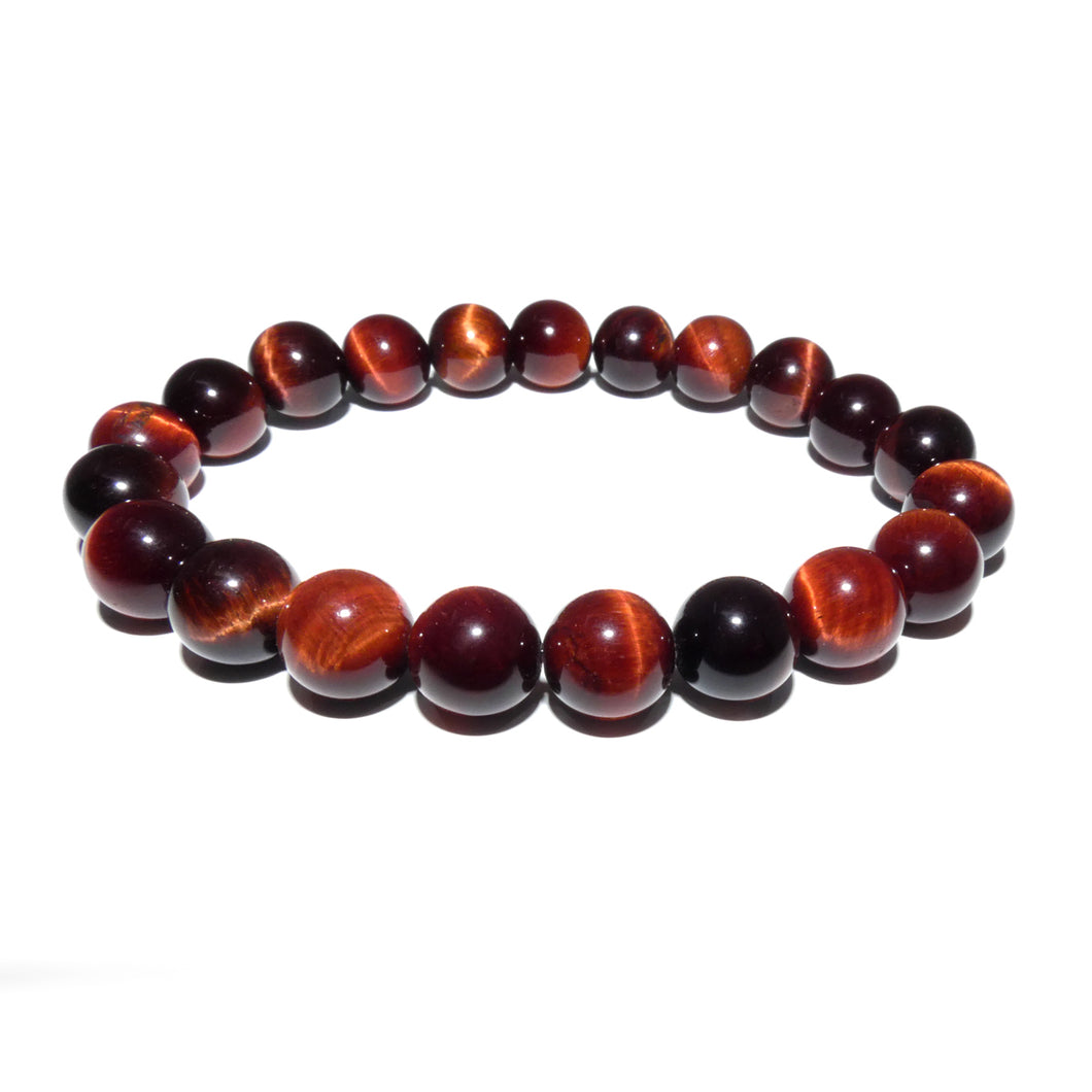 Red Tigers Eye Stamina & Endurance 10mm Stretch Bracelet