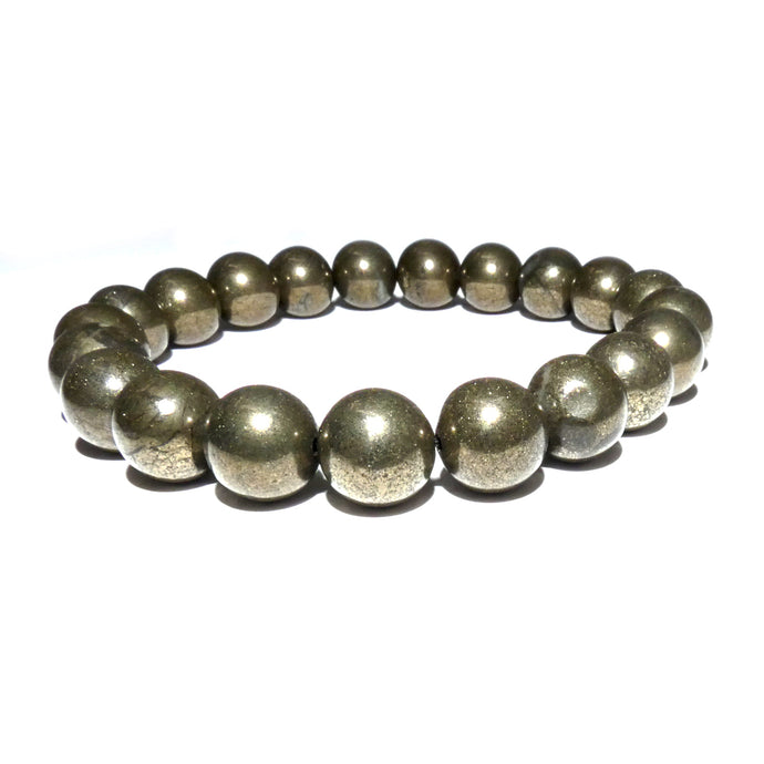 Pyrite Abundance & Prosperity 10mm Stretch Bracelet