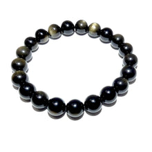 Load image into Gallery viewer, Limited Gold Sheen Obsidian Energetic Shield 10mm Stretch Bracelet