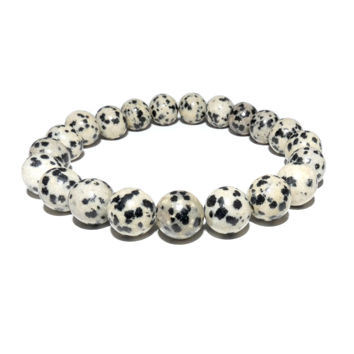 Dalmatian Jasper Nurturing & Playful 10mm Stretch Bracelet