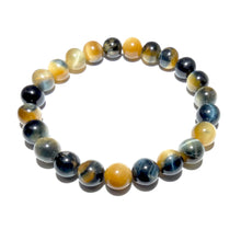 Load image into Gallery viewer, Limited Honey Blue Tigers Eye Velvet Transitioning 8mm Stretch Bracelet