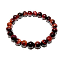 Load image into Gallery viewer, Red Tigers Eye Stamina & Endurance 8mm Stretch Bracelet