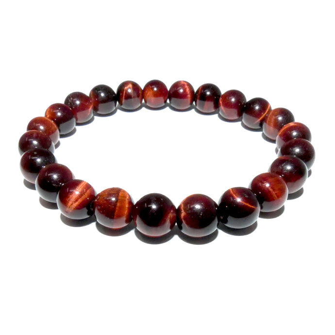 Red Tigers Eye Stamina & Endurance 8mm Stretch Bracelet