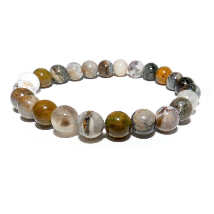 Ocean Jasper Swirls of Serenity 8mm Stretch Bracelet