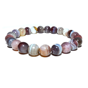 Black Lace Agate Botswana Agate Sooth & Agile 8mm Stretch Bracelet