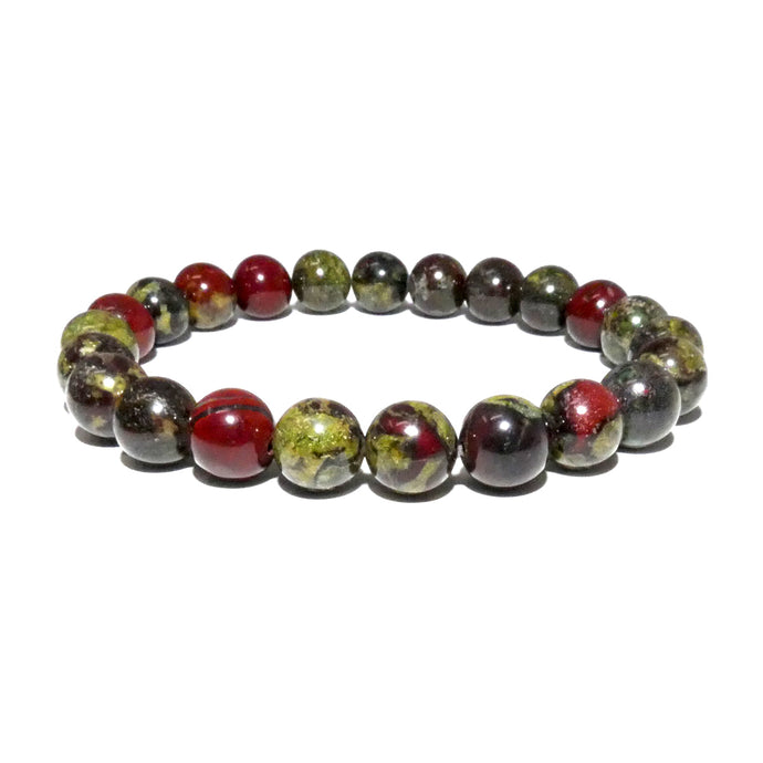Dragons Blood Jasper Justice & Protection 8mm Stretch Bracelet