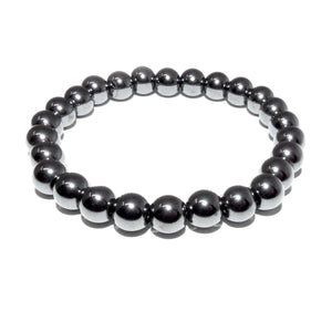Hematite Inner Power & Manifestation 8mm Stretch Bracelet