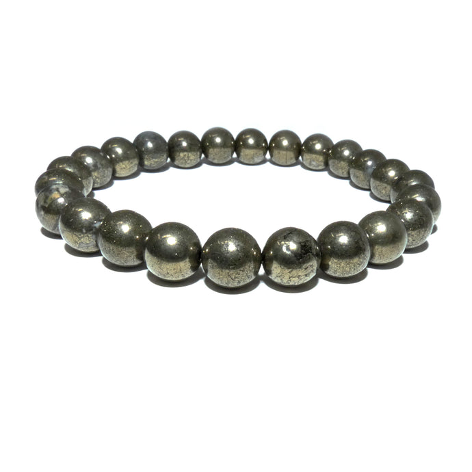 Pyrite Abundance & Prosperity 8mm Stretch Bracelet