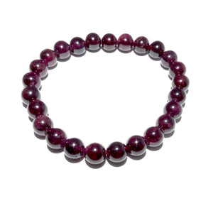 Brazilian Garnet Brave Passionate Love 8mm Stretch Bracelet