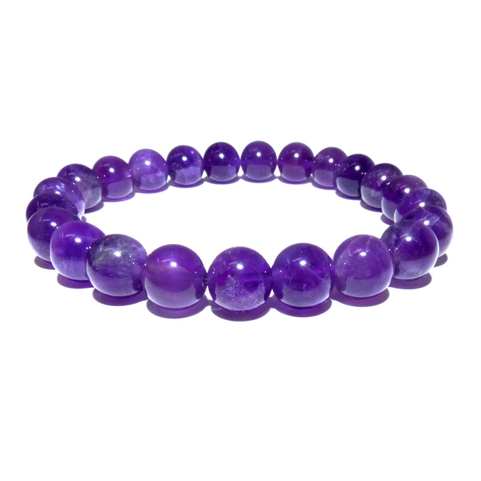 African Amethyst Queen Intuition 8mm Stretch Bracelet