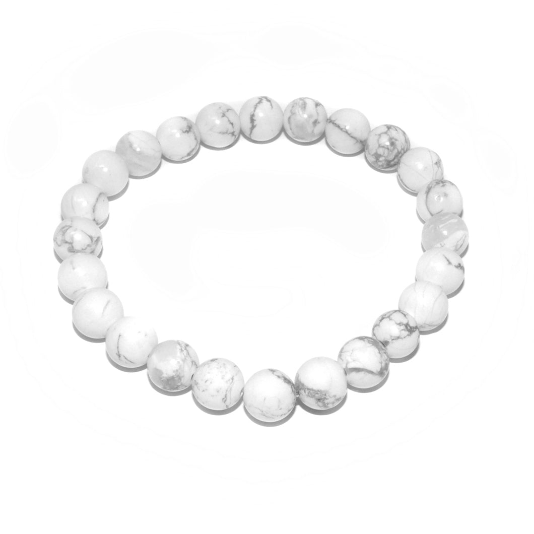 Howlite Happiness Anti-Anxiety 8mm Stretch Bracelet