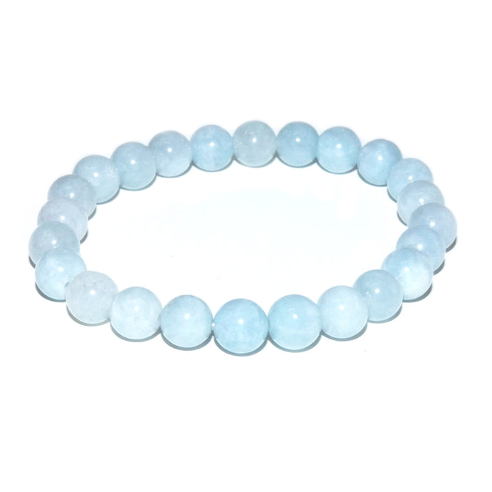 Aquamarine Conscious Awareness Relaxation 8mm Stretch Bracelet