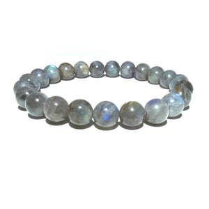 Labradorite Limited New Moon Power Protector Shaman Stone 8mm Stretch Bracelet