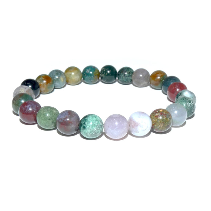 Indian Agate Growing Beauty & Inner Wisdom 8mm Stretch Bracelet
