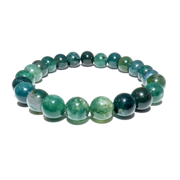 Moss Agate Mother Gaia Growth & Abundance 8mm Stretch Bracelet