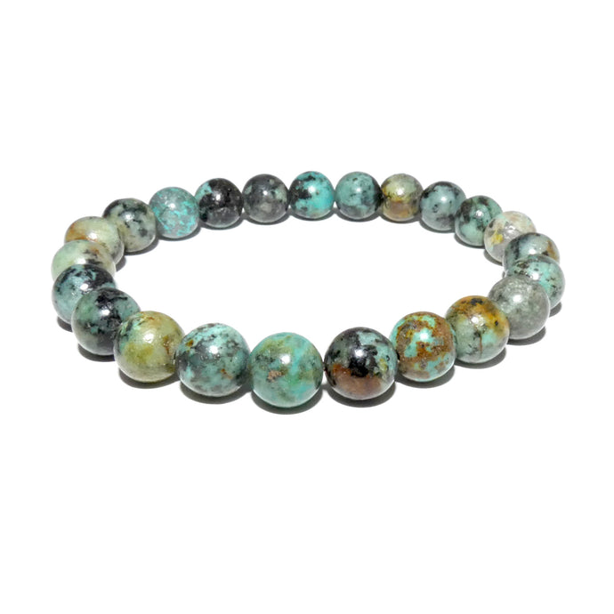 African Turquoise Exploration & Transformation 8mm Stretch Bracelet