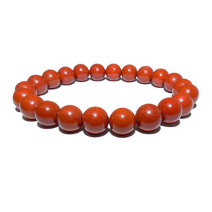 Red Jasper Earth Warrior Freedom Fighter Protection 8mm Stretch Bracelet