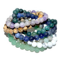 Load image into Gallery viewer, Sodalite Matte Harmony and Truth 8mm Stretch Bracelet
