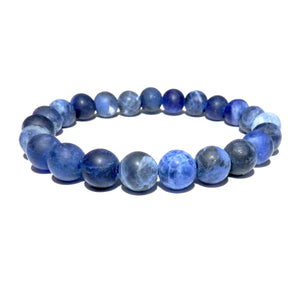 Sodalite Matte Harmony and Truth 8mm Stretch Bracelet