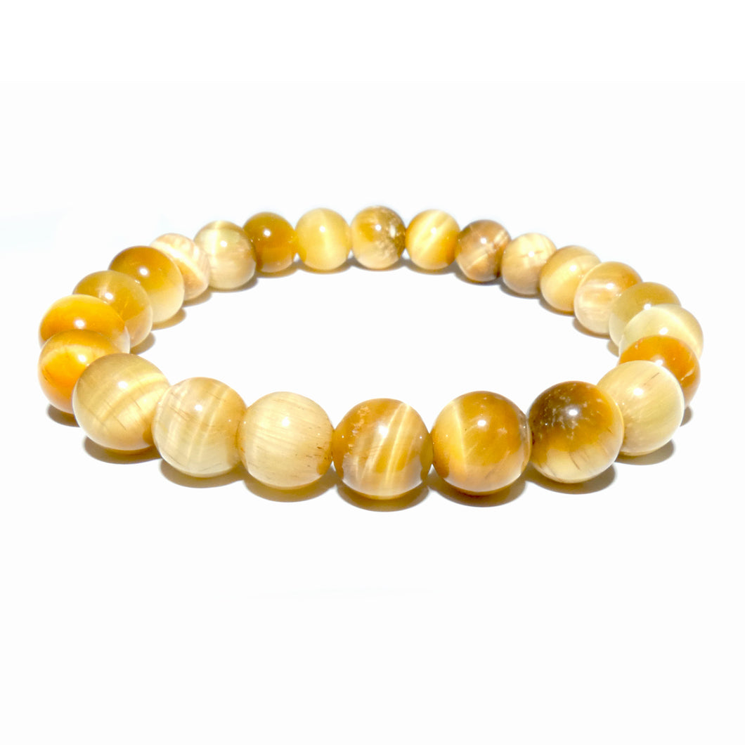 Honey Yellow Tigers Eye Sunny Motivation 8mm Stretch Bracelet