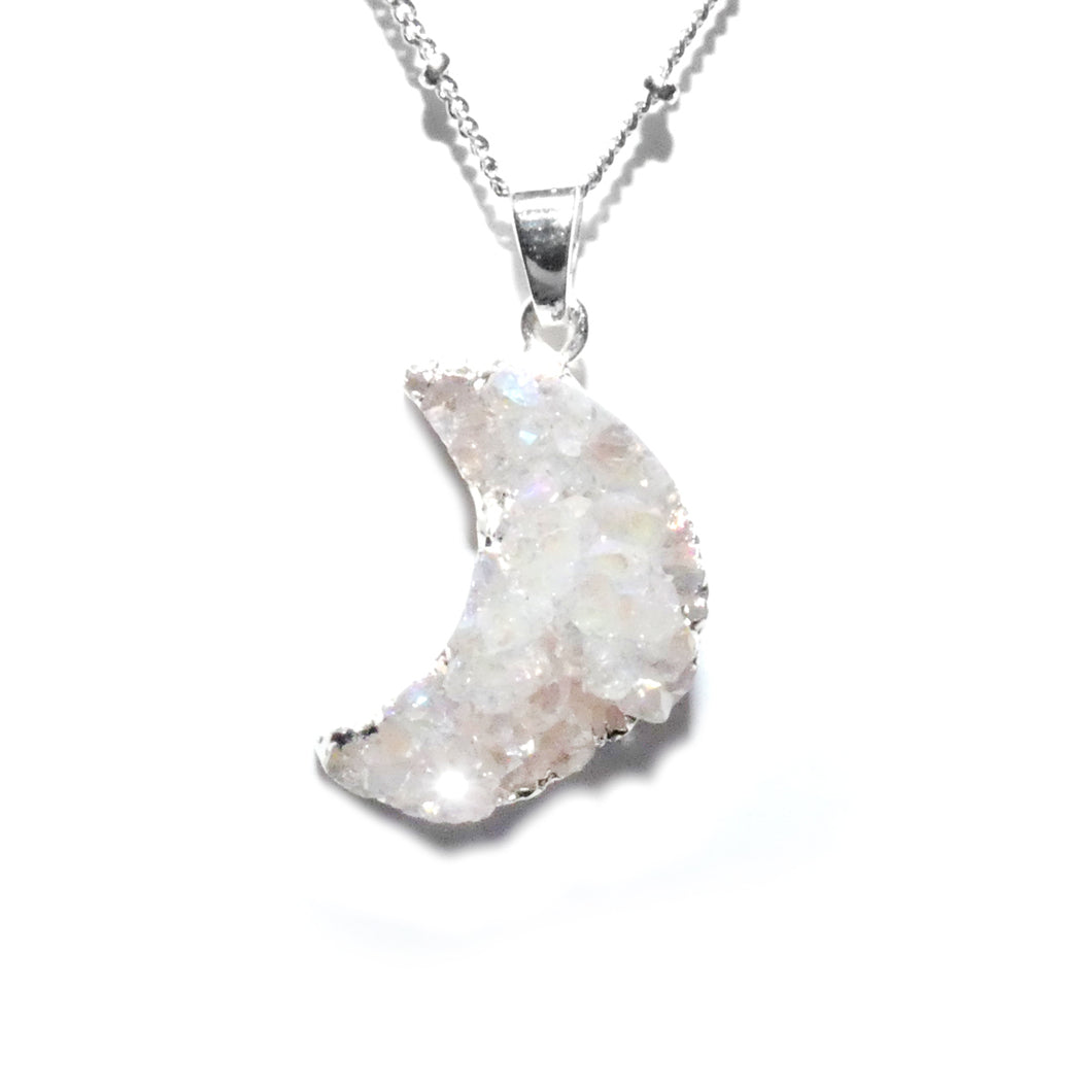 Power Moon Dreamy Druzy Gemstone Pendant 18