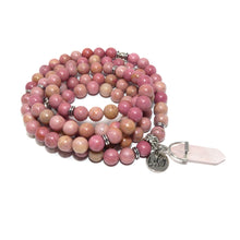 Load image into Gallery viewer, Rhodonite Unconditional Love 108 Mala Necklace Bracelet