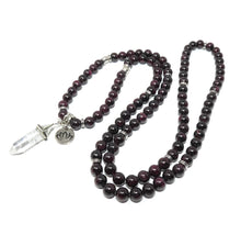 Load image into Gallery viewer, Brazilian Garnet Brave Passionate Love 108 Mala Necklace Bracelet
