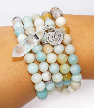Load image into Gallery viewer, Australian Amazonite Clarity Peace 108 Mala Necklace Bracelet