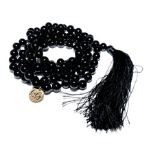 Load image into Gallery viewer, Black Onyx Spiritual Warrior Strength 108 Hand Knotted Mala Necklace Bracelet