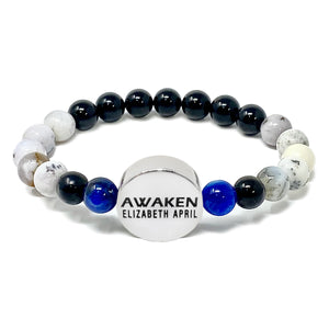 8mm Elizabeth April New Earth Spiritual AWAKEN Limited Edition Stretch Bracelet