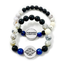 Load image into Gallery viewer, 8mm Elizabeth April New Earth Spiritual AWAKEN Limited Edition Stretch Bracelet