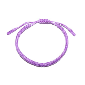 Lavender Purple Tibetan Buddhist Monk Braided Knot Lucky Bracelet