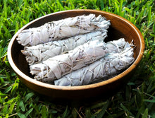 Load image into Gallery viewer, Smudge Three Bundles Organic California White Sage Sacred Native Herb Incense Spiritual Energy Cleansing Tool
